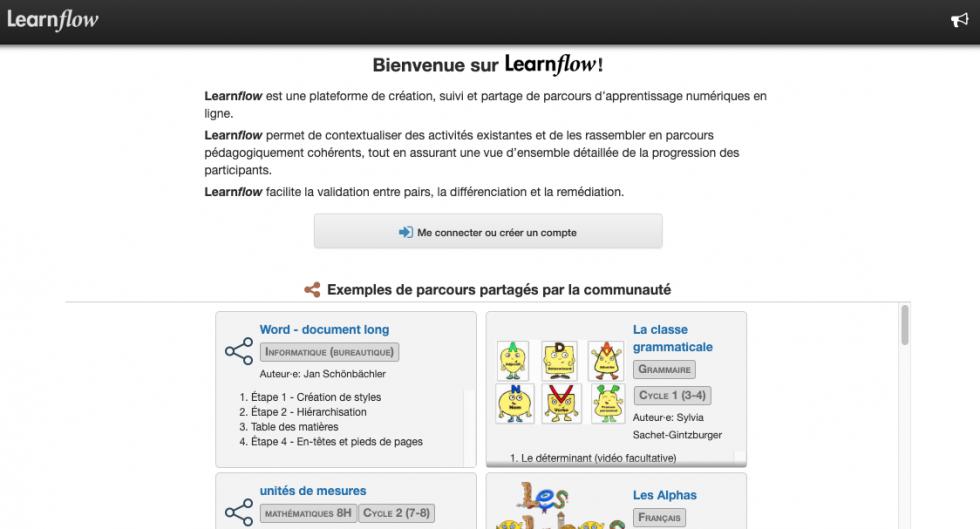Organiser un parcours d'apprentissage pour vos élèves avec Learnflow
