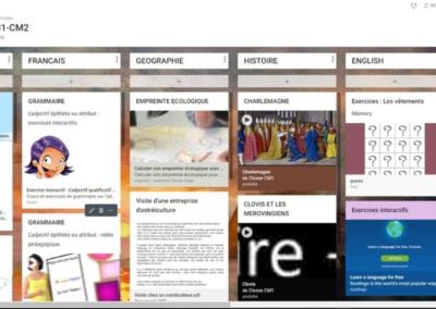 Transmettre un plan de travail à vos élèves avec Padlet