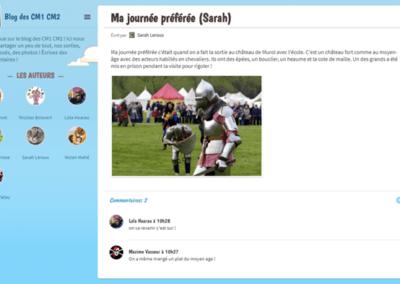 Créer un blog avec sa classe
